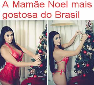 Índia Fitness Cintia Valletim a Mamãe Noel mais gostosa do Brasil