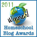 "Thank you for Making The Happy Lil Homemaker, this years ""Best Homemaking/Recipe Blog"", winner"