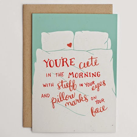 Ma Bicyclette: Buy Handmade | Valentine's Day Cards - You're cute in the morning