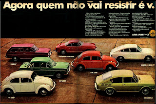 1970. Volkswagen. anos 70; história da década 70; Brazil in the 70s; Brazilian advertising cars in the 70s, Oswaldo Hernandez;
