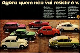 1970. Volkswagen. anos 70; história da década 70; Brazil in the 70s; Brazilian advertising cars in the 70s, Oswaldo Hernandez;