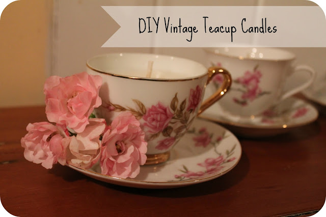 Diy vintage tea cup candles   Cottage Diaries
