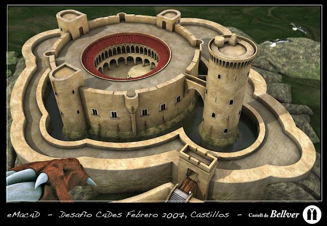 Castell de Bellver | Castillo de Bellver | Castle of Bellever | 3D