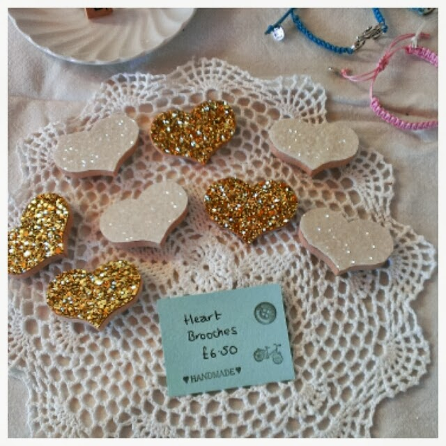 Miss Chaela Boo - Cherry Hinton Craft Party - glitter brooches by Claireabellemakes