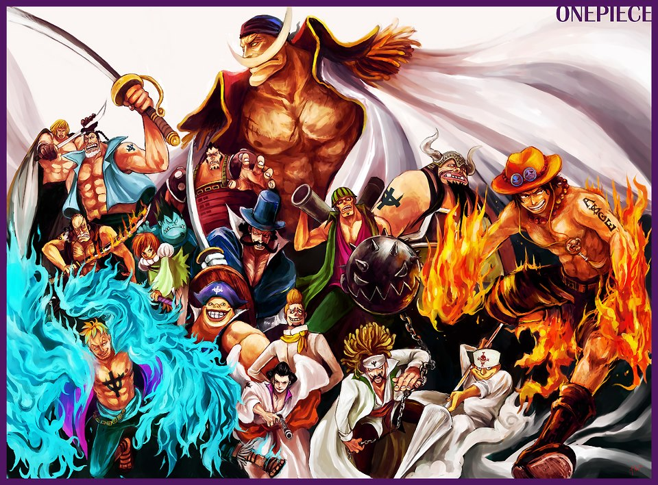 Whitebeard Pirates HD Wallpaper One Piece Diamond Jozu Edward Newgate Thatch Atomos Portgas D Ace