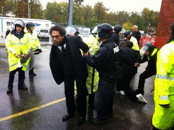cornel west arrested in ferguson