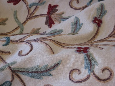 As The Curtain Hangs The History Of Crewel Embroidery