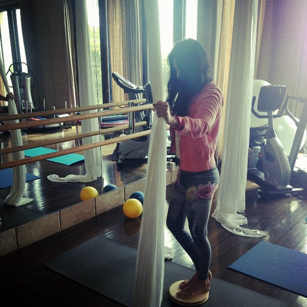 Cher at the gym, October 2014