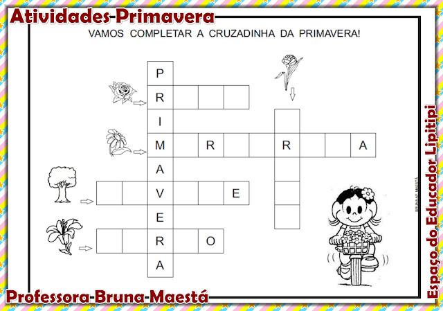 Atividades Projeto Primavera  para turmas de alfabetização