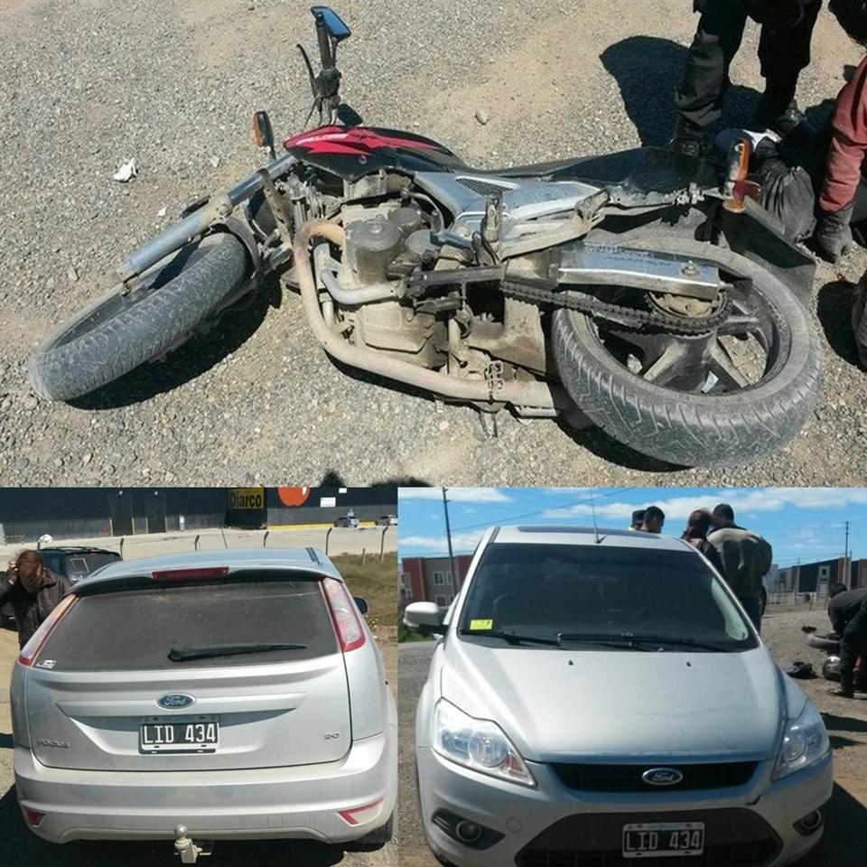 Motociclista lesionado en choque