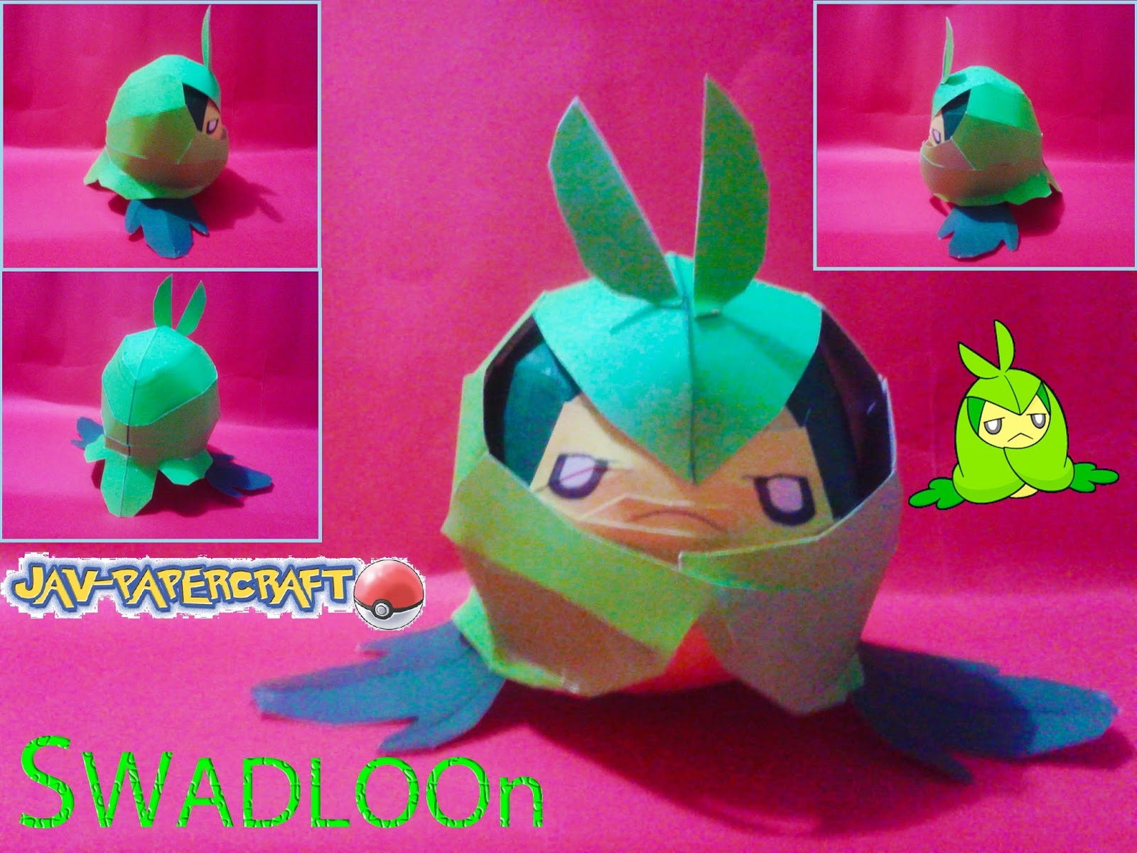 Pokemon Swadloon Papercraft