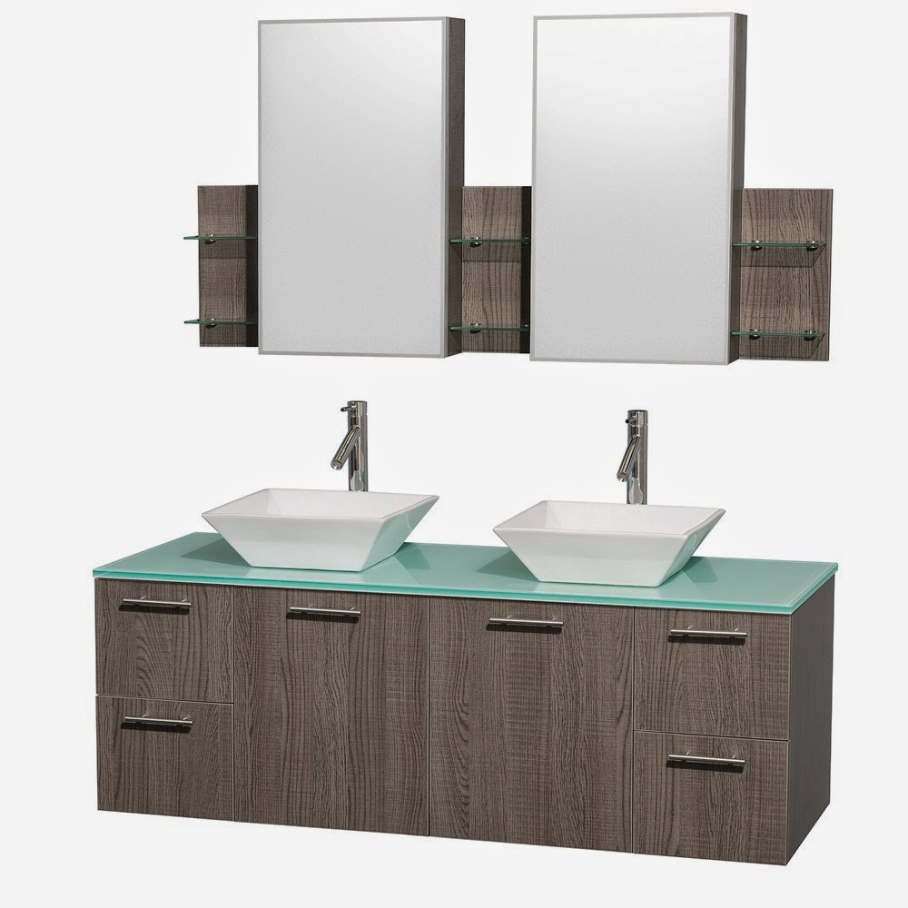 Discount Bathroom Vanities: Gray Oak Contemporary Bathroom Vanities