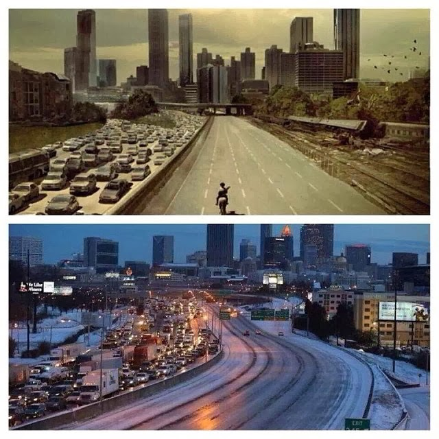 "Atlanta es ahora mismo un capitulo de ""The Walking Dead"" (Fotos)"