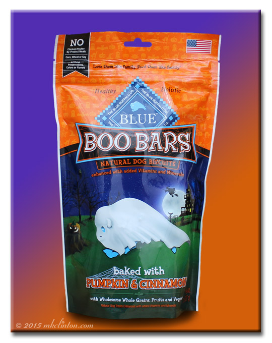 Halloween themed package of Blue Buffalo's Boo Bars