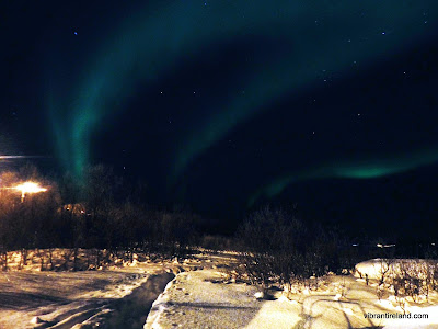 Northern lights outside of tromso norway