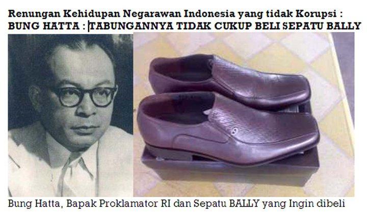Bung Hatta dan Sepatu Bally yang ingin dibeli.