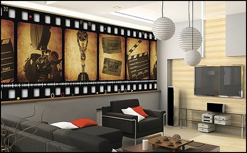 Movie Themed Bedrooms   Home Theater Design Ideas   Hollywood Style Decor   Movie  Decor   Part 6