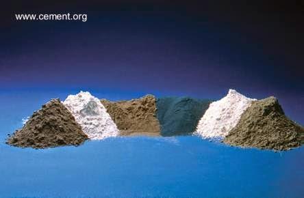 Polvos para combinar con cemento para hacer mezclas de material de concreto