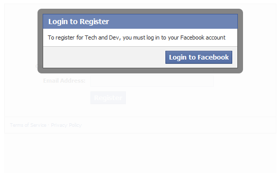 Facebook Registration Plugin Force Login