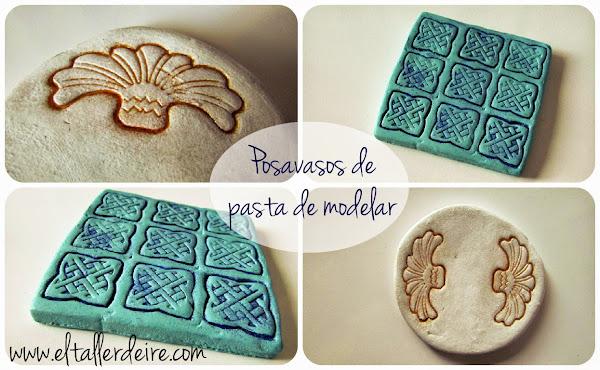Posavasos hechos con pasta de modelar a base de arcilla - Pasta para modelar manualidades ...