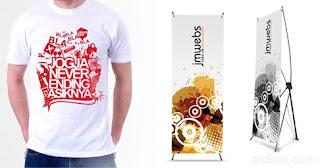 Kaos dan X Banner - Kegunaan / Fungsi Dari Aplikasi / Software Adobe Illustrator