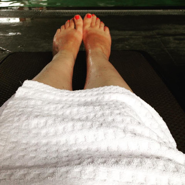 Relaxing at the spa