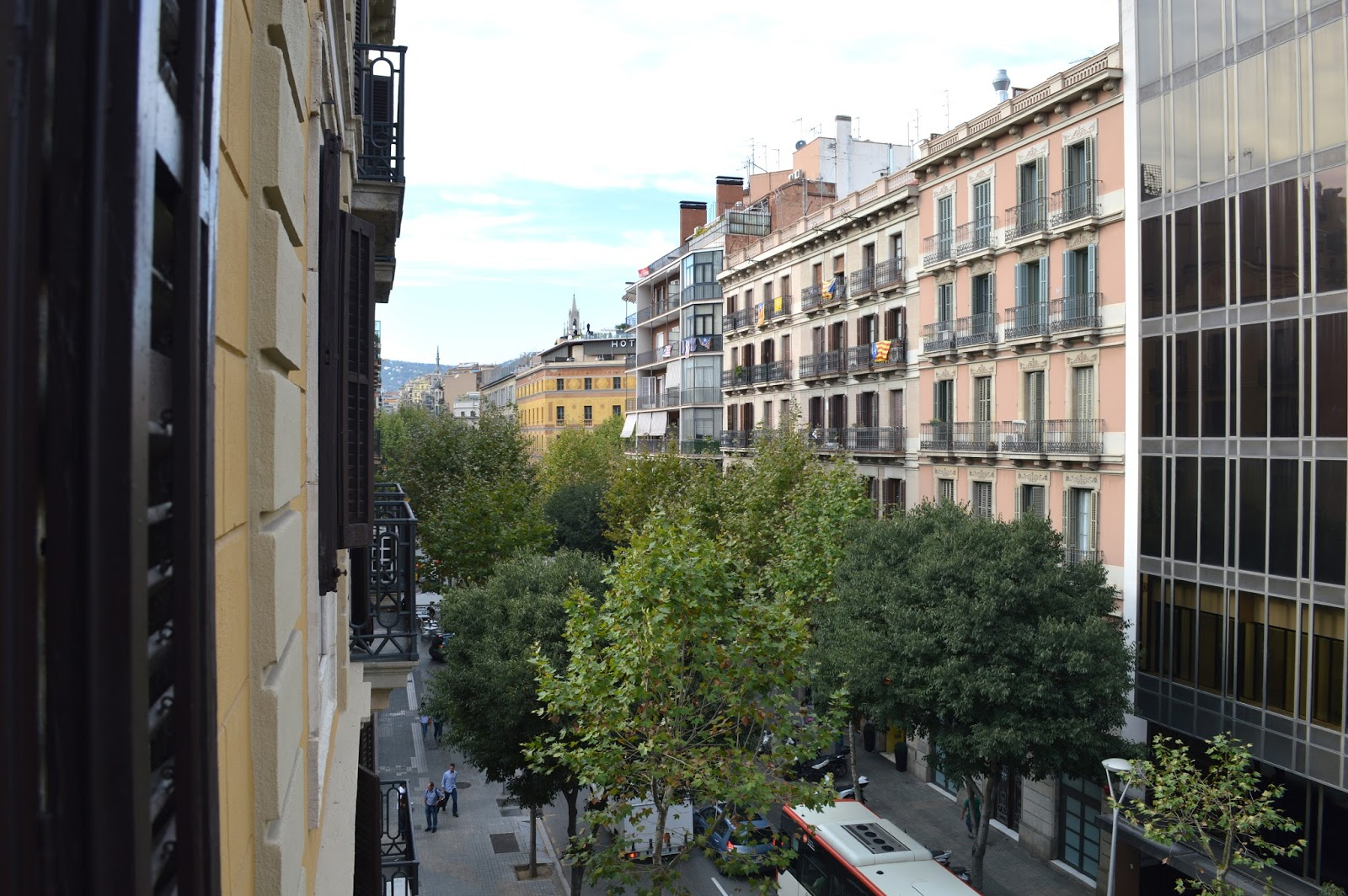 View from Airbnb apartment Barcelona