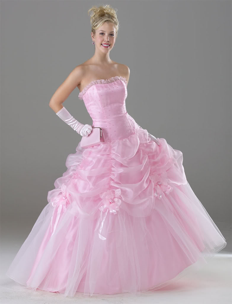 various kinds of wedding dresses with new models pink