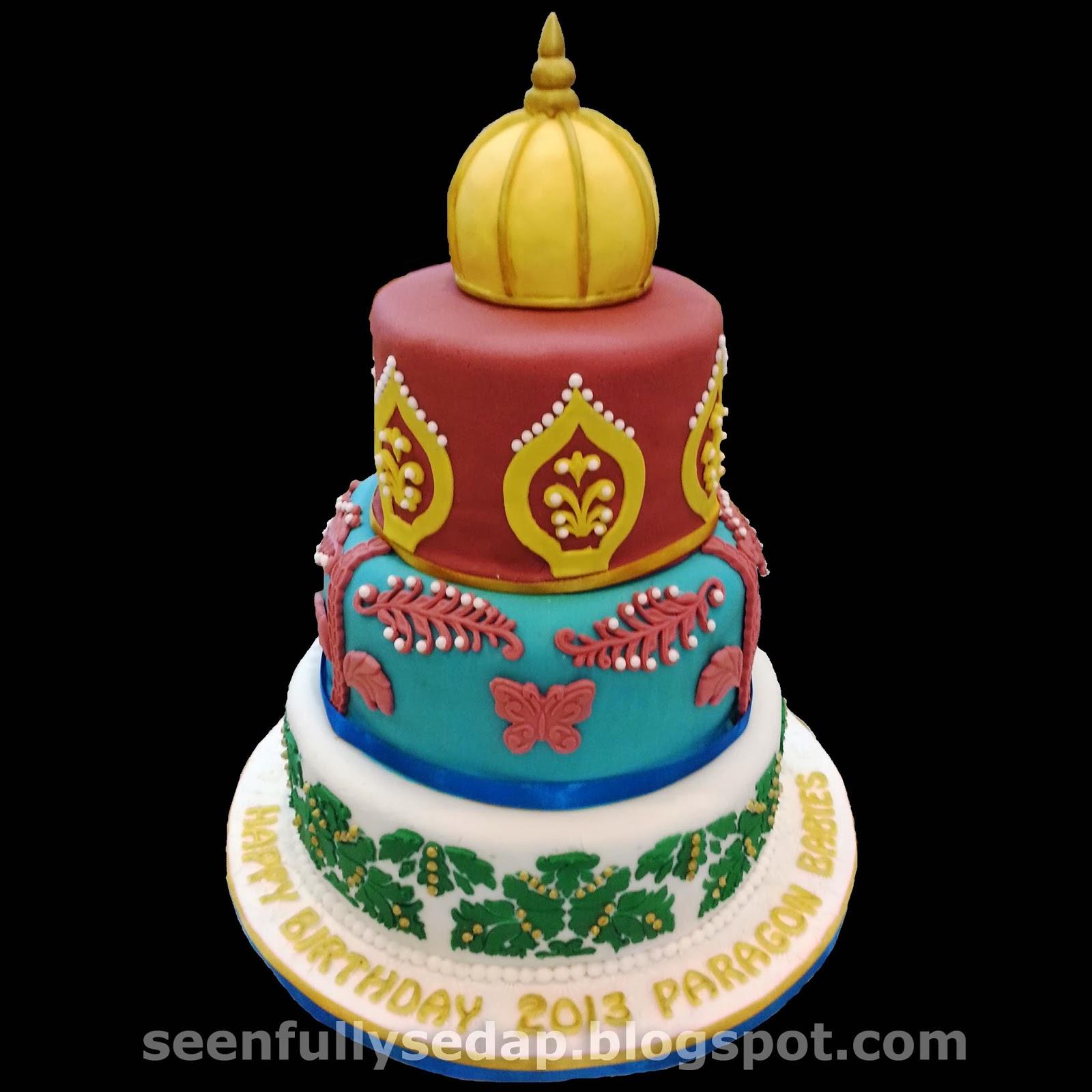 Seenfully sedap arabian theme birthday cake for Arabian cake decoration