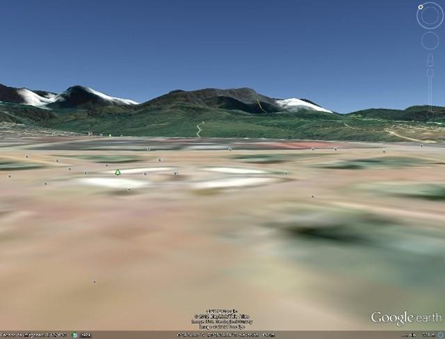 Cordillera Escalera vista desde la Plaza de Armas de Tarapoto, Perú (Imagen de Google Earth)