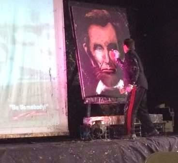 Rob Surette paints Abraham Lincoln