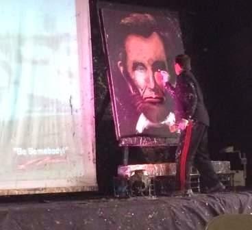 Rob Surette paints Abraham Lincoln