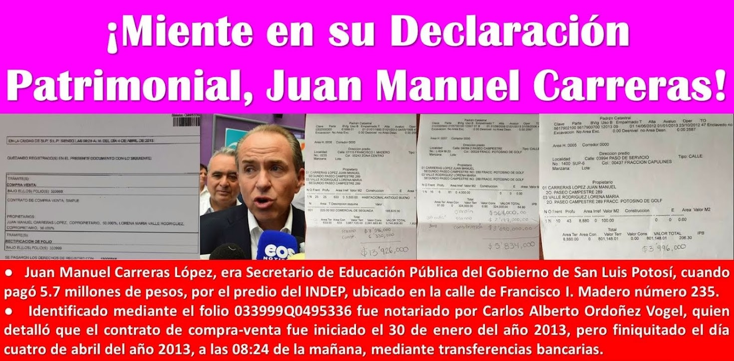 APARECE LA CASITA BLANCA DE JUAN MANUEL CARRERAS.