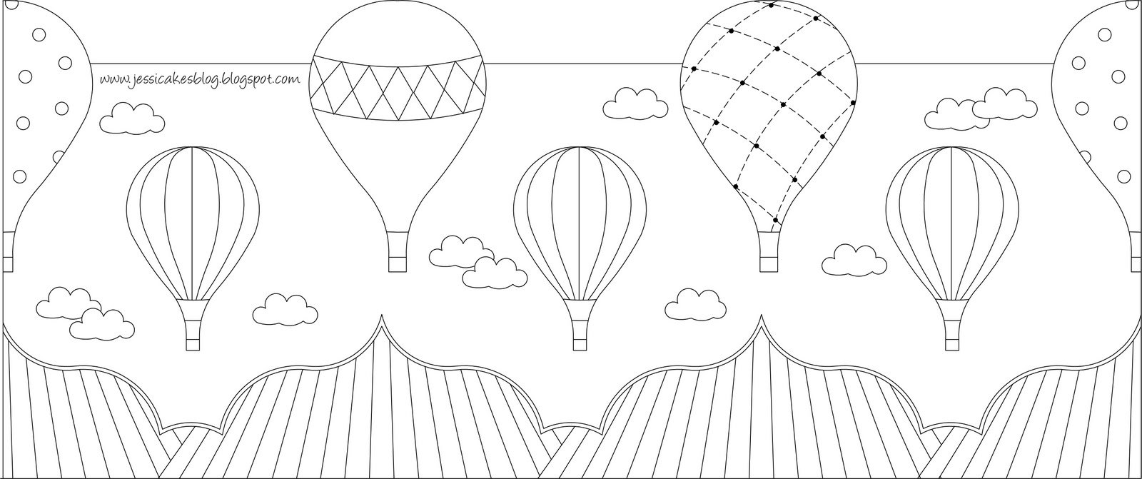 Hot Air Balloon Cake Up Up and Away Jessica Harris Cake Design