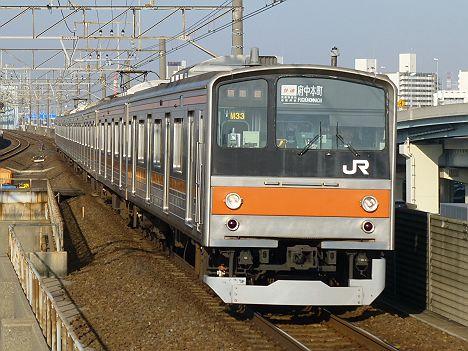 武蔵野線 快速 府中本町行き 205系5000番台(廃止)