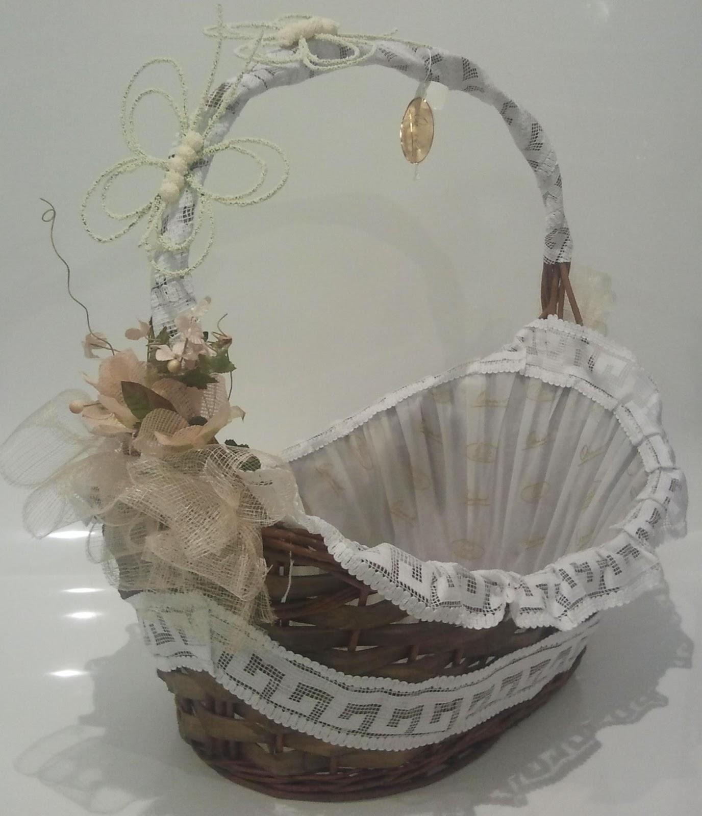 Bodas bautizos y comuniones cestas de regalo cestas - Cestas de mimbre para bebes ...