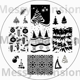 Lacquer Lockdown - Messy Mansion, new plates 2013, new stamping plates 2013, new stamping plates, new image plates, nail art, stamping, bundle monster, konad, winter nail art, holiday nail art, christmas nail art, snowflake nail art, cute nails, easy nail art,