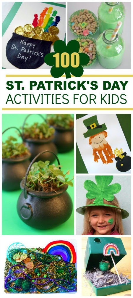 100 St. Patrick's Day Activities for Kids- The best list I've seen!