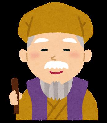水戸光圀(水戸黄門)の似顔絵イラスト