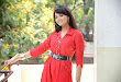 Aarushi latest Glamorous Photos in red top