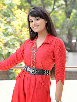 Aarushi latest Glamorous Photos in red top-cover-photo