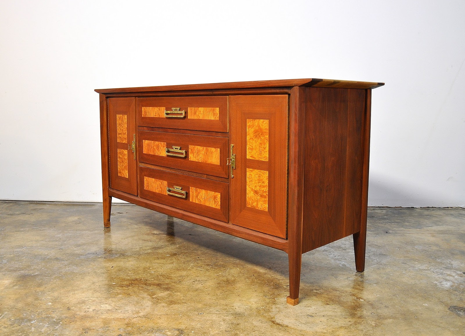 : James Mont Style Credenza Bar Buffet Media Console Or Sideboard. Full resolution  snapshot, nominally Width 1600 Height 1159 pixels, snapshot with #B54C16.