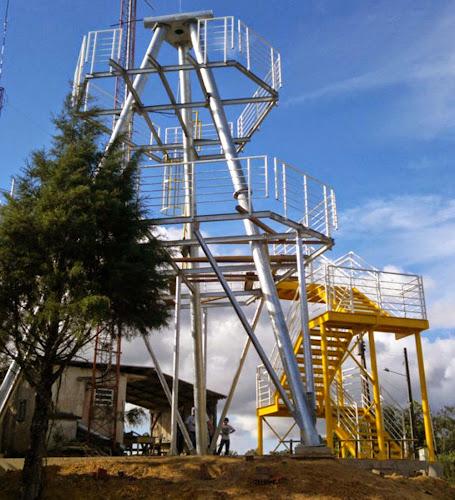 Plataforma da maior tirolesa do mundo