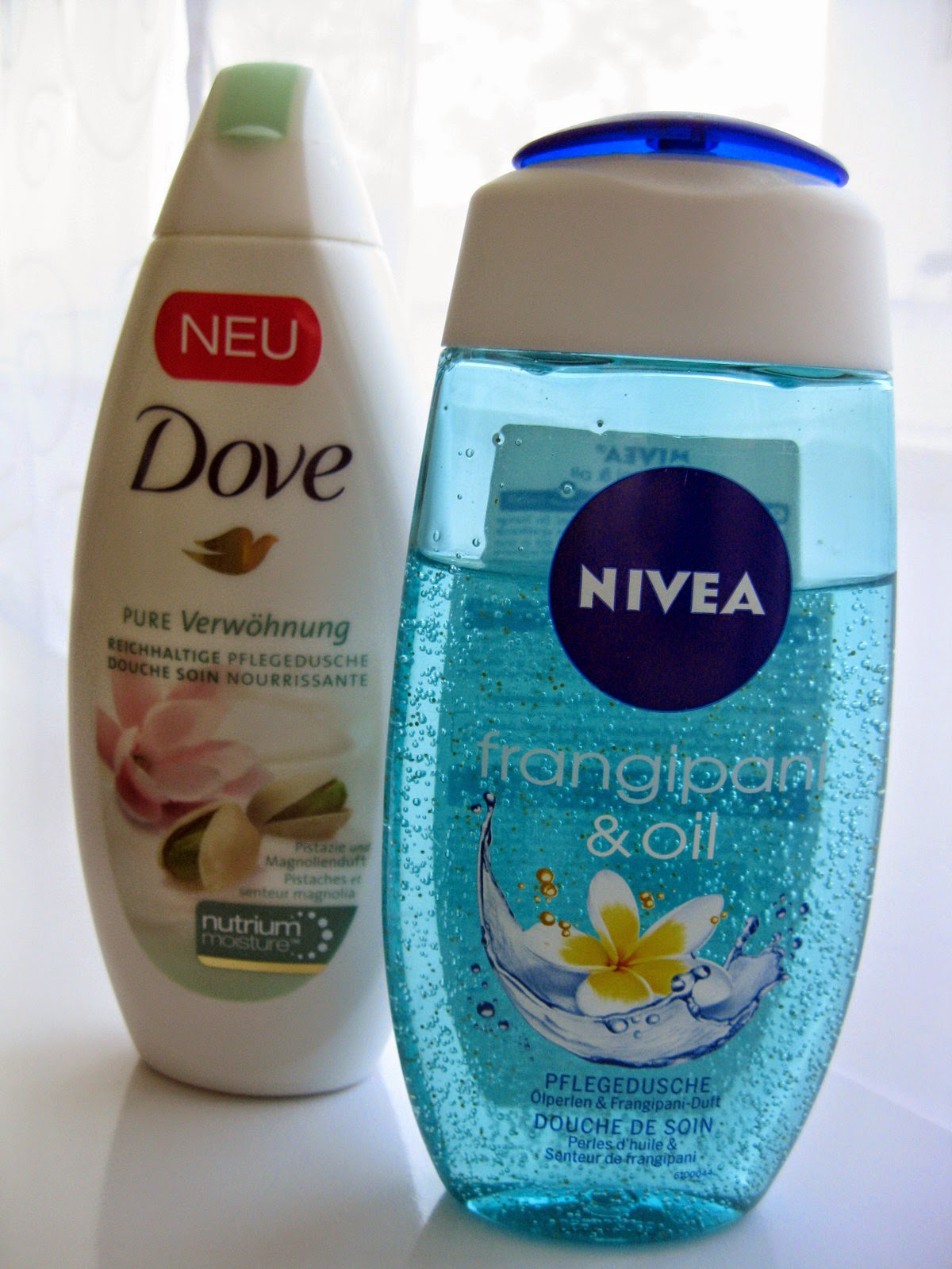 Dove Pistazie & Magnolie-Nivea Frangipani & Oil