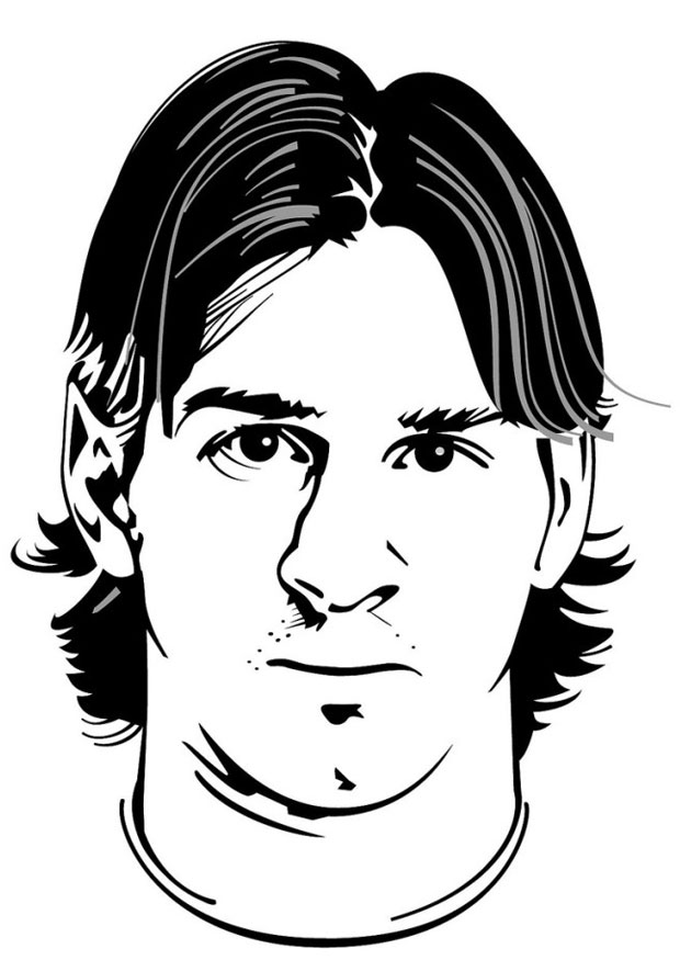 coloring pages sports messi jersey - photo#25