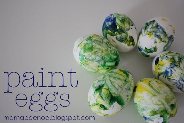 toddler paint eggs