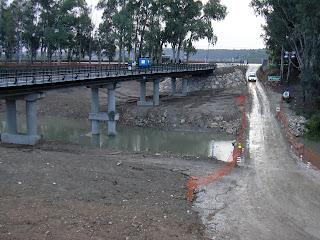 Construcción del nuevo puente de La Greduela (noviembre de 2005)