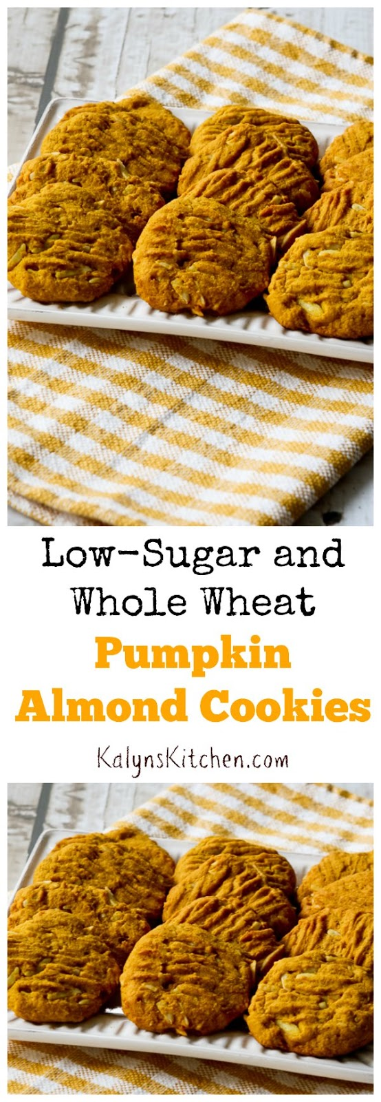 Low-Sugar and Whole Wheat Pumpkin Almond Cookies (with Coconut Oil ...