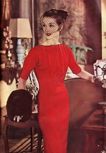 Vintage Red Dress #1950s #fashion #1960s #style #red #dress