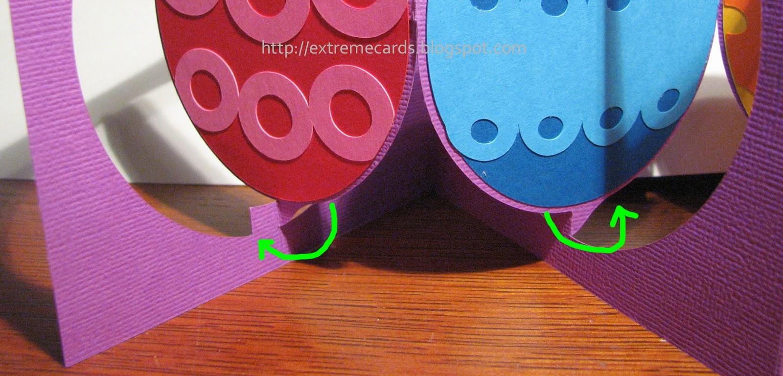 Easter pop up card glue tabs